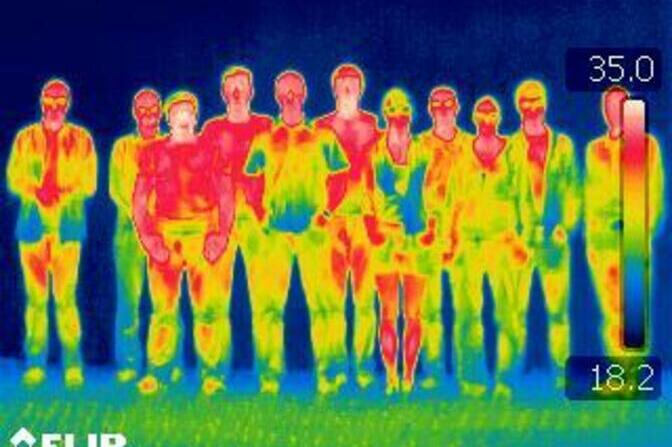 IR picture of team
