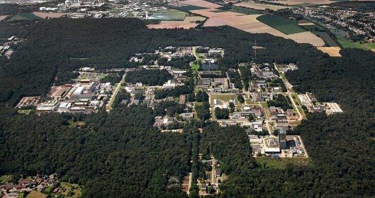 Aerial photo of the Research Center Jülich